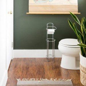 deco toilette wc vert kaki