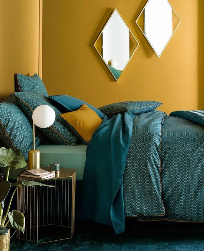 deco vert canard dore chambre