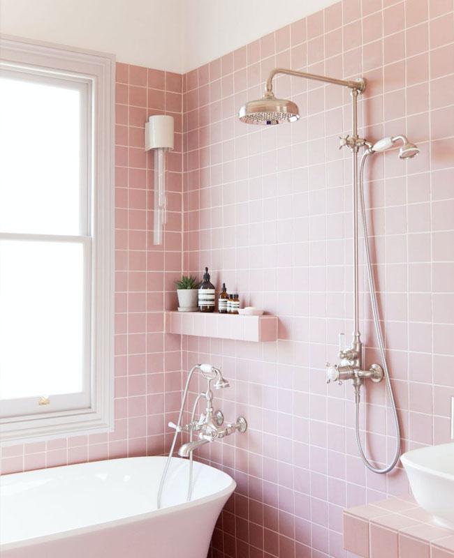 deco vintage rose salle de bain