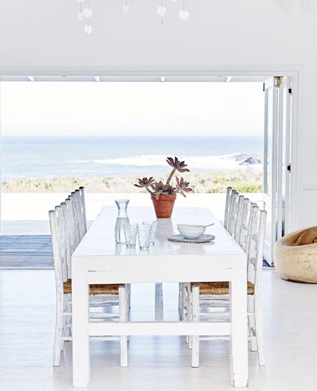 deco bord de mer blanc salle a manger moderne