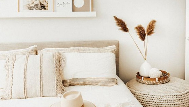 deco beige blanc chambre