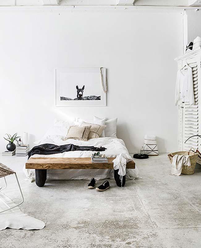 deco chambre boheme blanc coussin beige