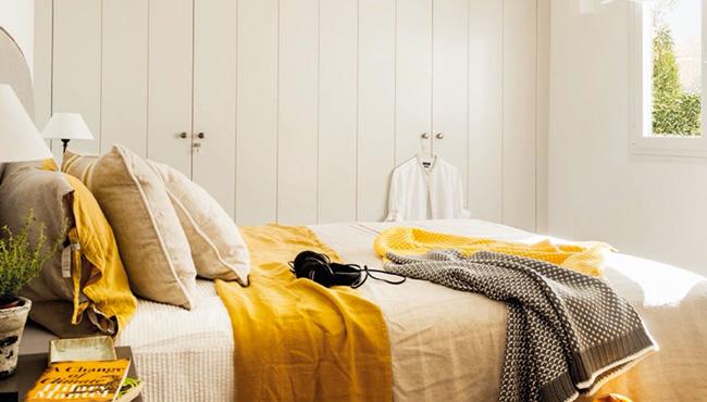 deco chambre jaune moutarde gris