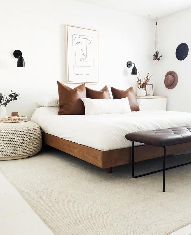 deco chambre moderne blanc boheme