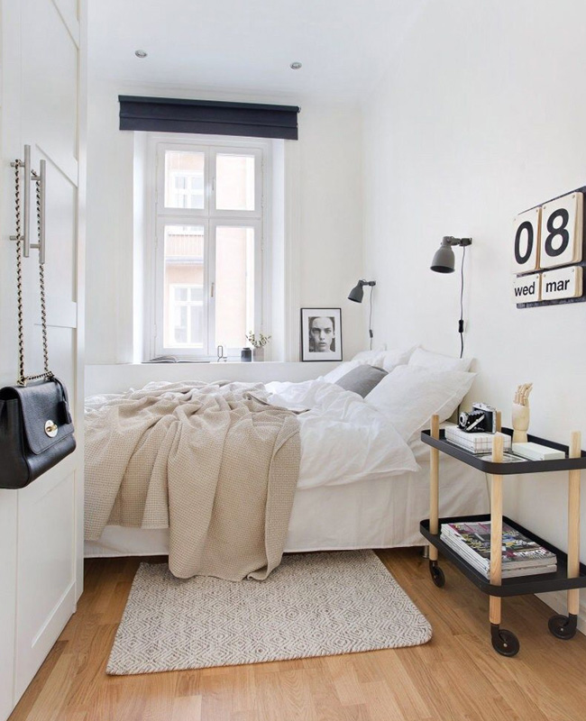 deco chambre moderne blanc scandinave