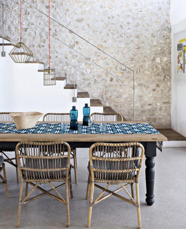 deco salle a manger bord de mer motifs bleu