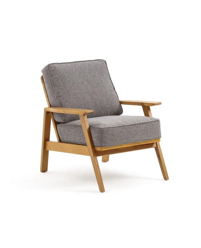 fauteuil bois vintage scandinave