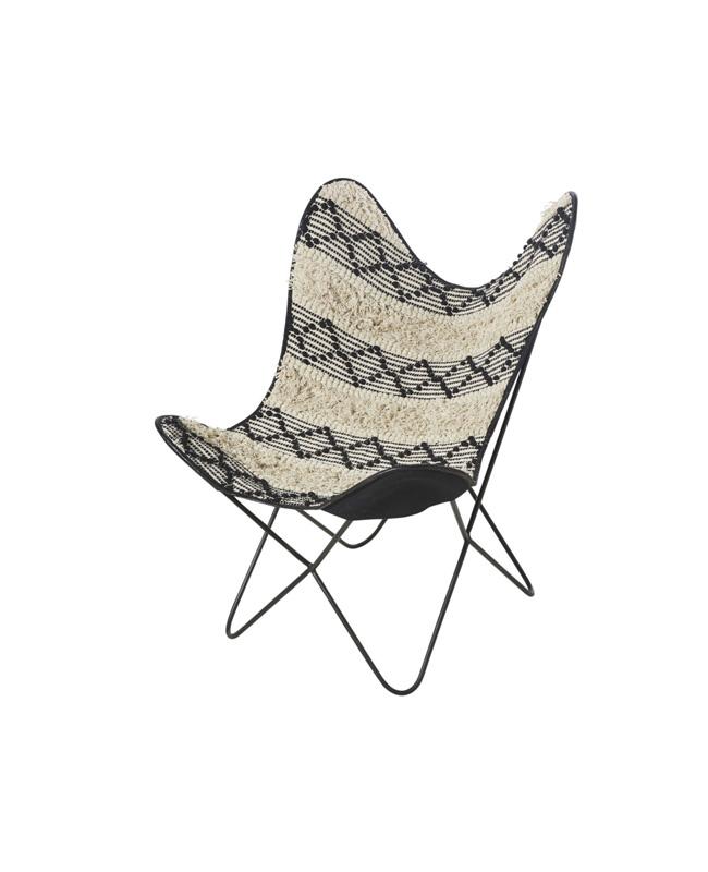fauteuil papillon motif ethnique