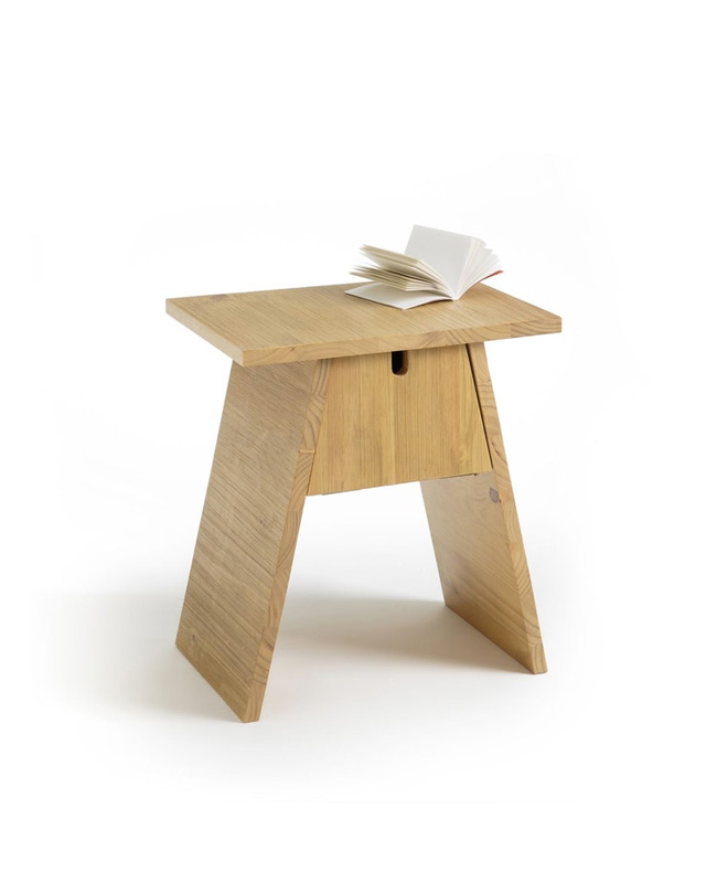 table de chevet bois