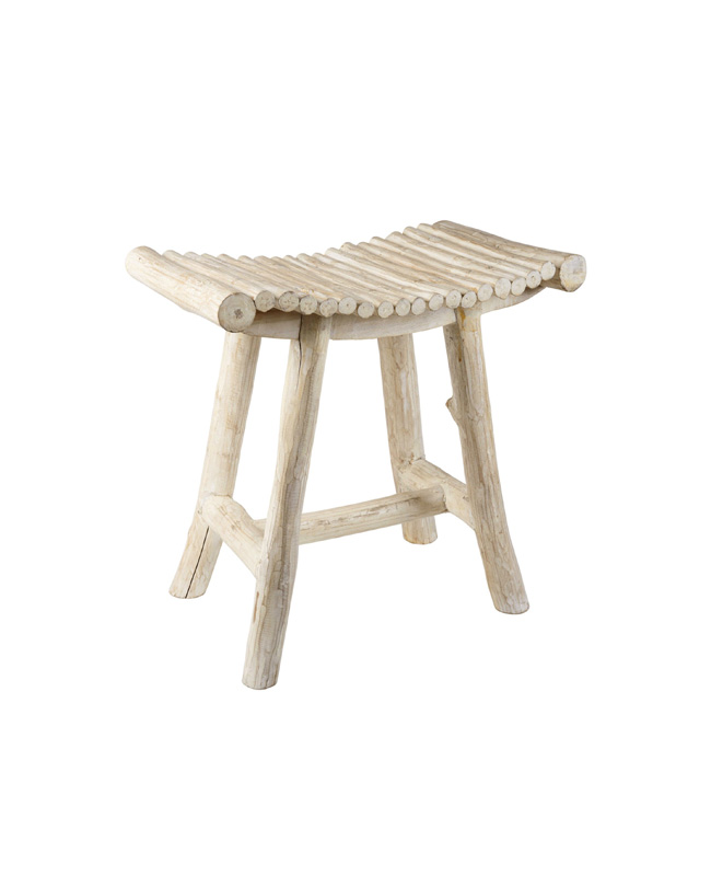 tabouret bois blanchi bord de mer