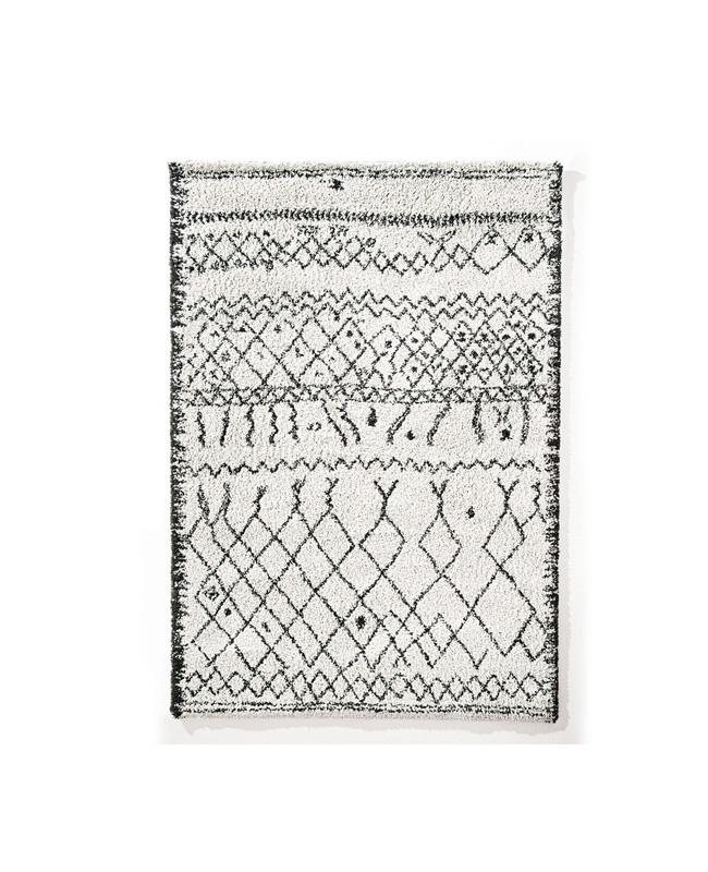 tapis berbère noir blanc ethnique