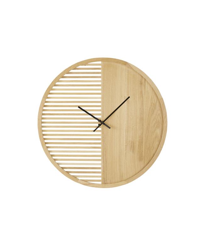 horloge moderne bois
