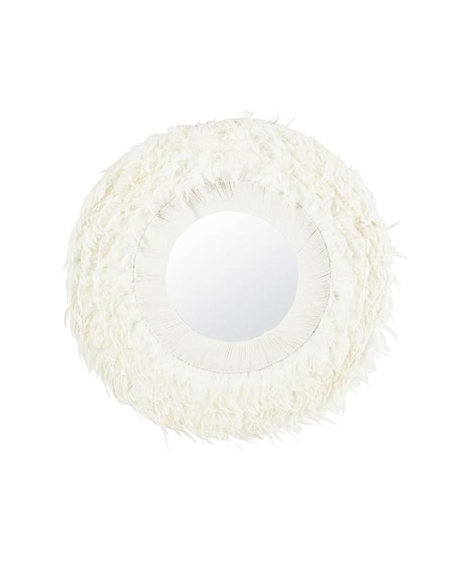 miroir plume blanc