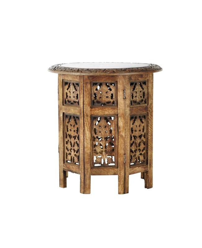 bout canape bois sculpte ethnique