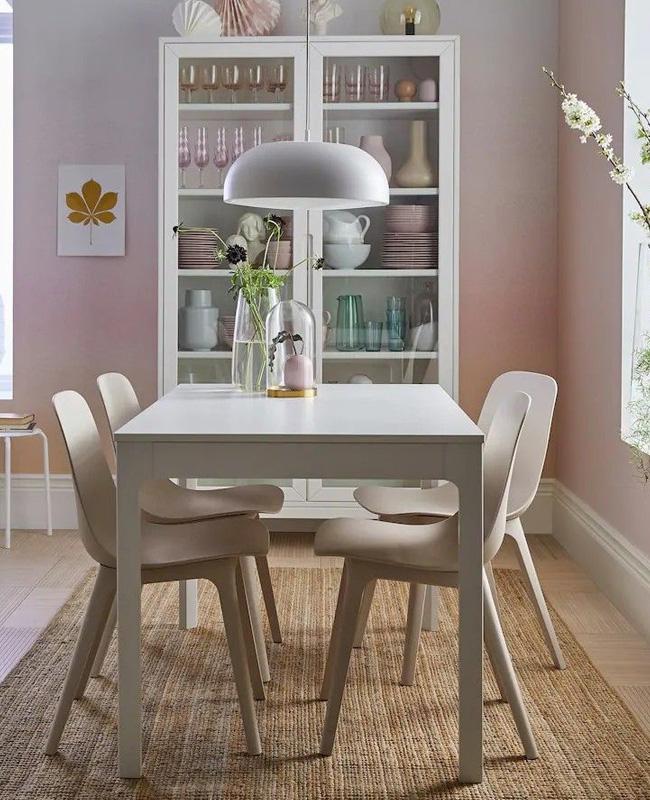 deco beige rose salle a manger moderne