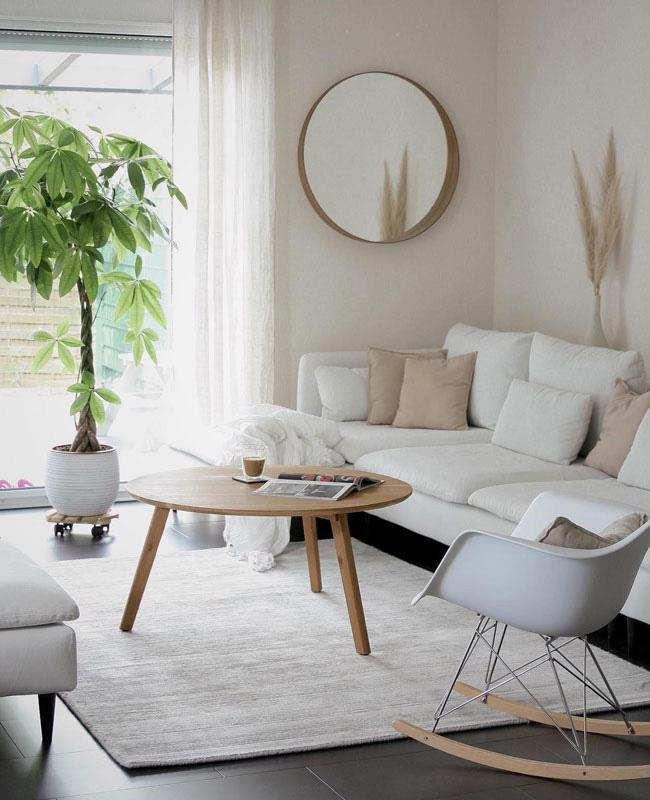 deco blanc bois salon moderne