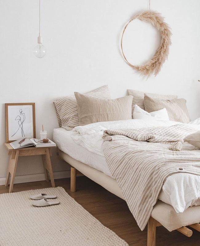 deco blanc bois chambre nature