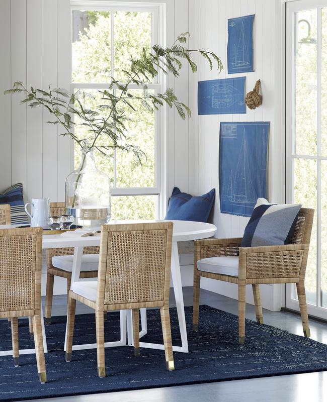deco bord de mer bleu salle a manger moderne