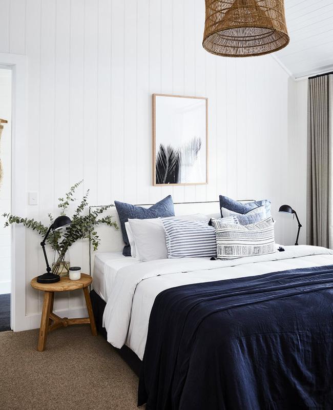 deco bord de mer bleu chambre moderne