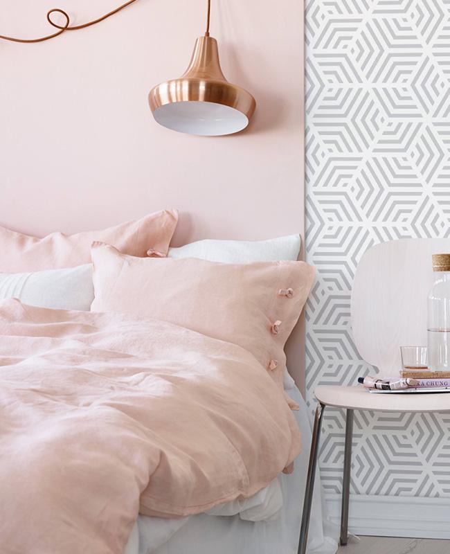 deco chambre rose tête de lit