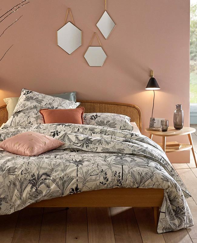 deco chambre rose peinture mur