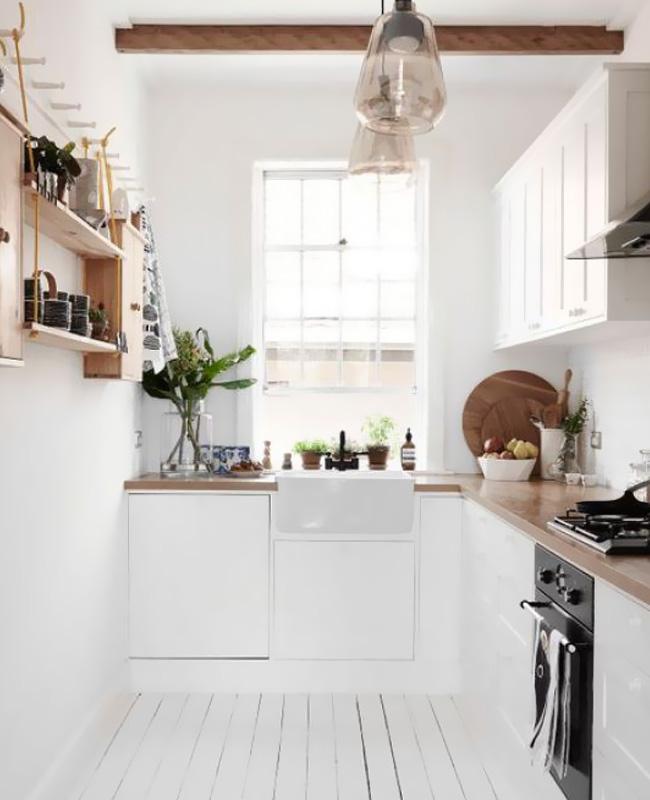 deco cuisine blanc bois scandinave
