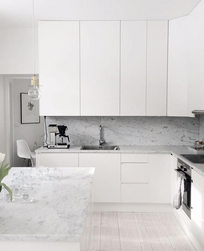 deco cuisine blanc marbre