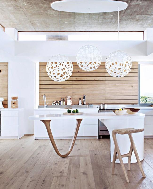deco cuisine bord de mer moderne blanc bois