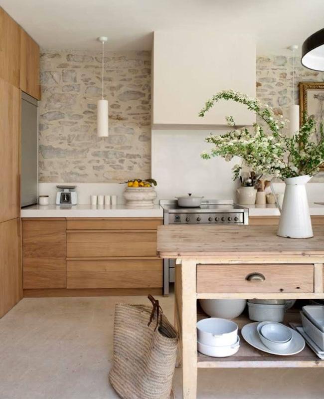 deco cuisine campagne moderne meubles bois