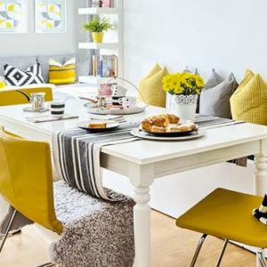deco jaune moutarde gris