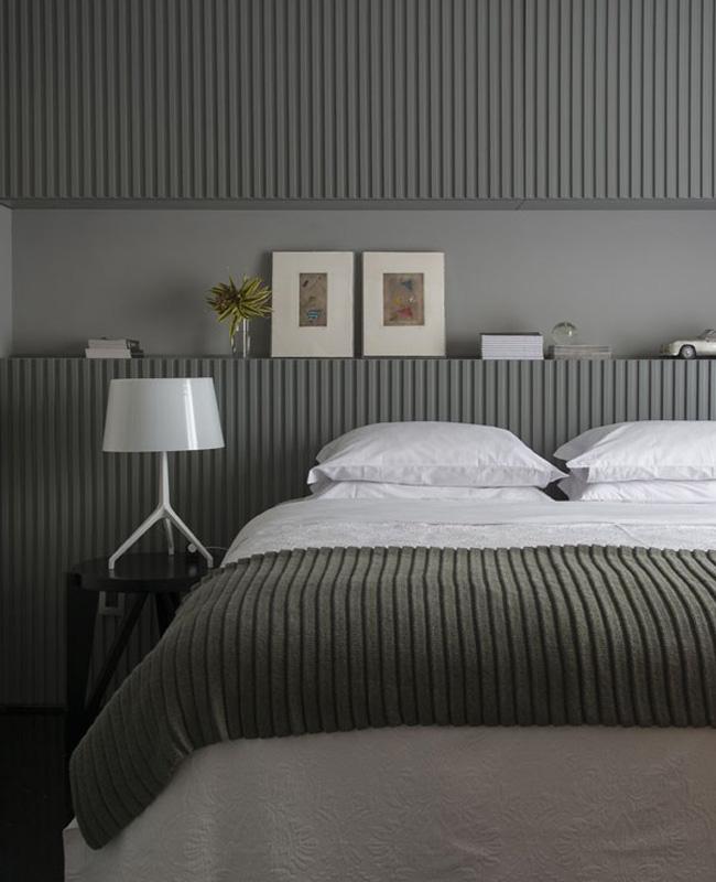 deco moderne gris meuble chambre