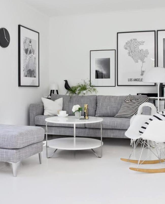 deco salon scandinave gris blanc