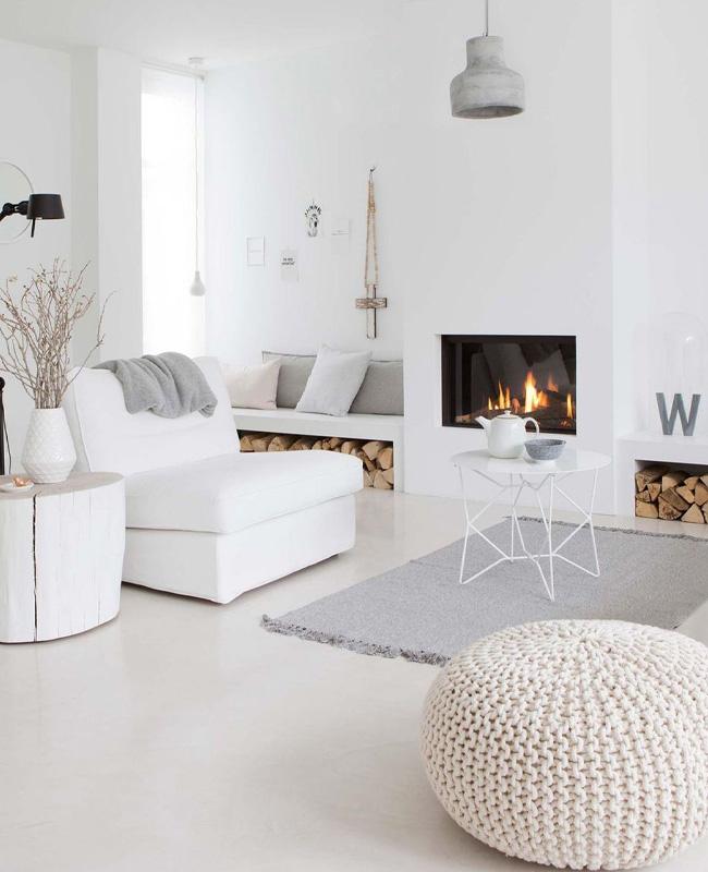 deco salon scandinave blanc