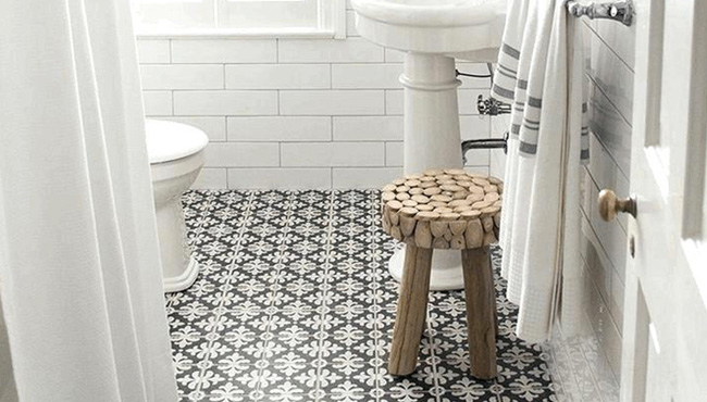 deco salle de bain carreaux de ciment