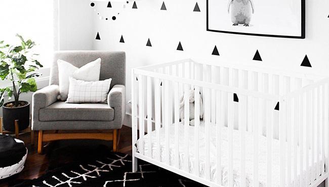 deco chambre bebe blanc noir