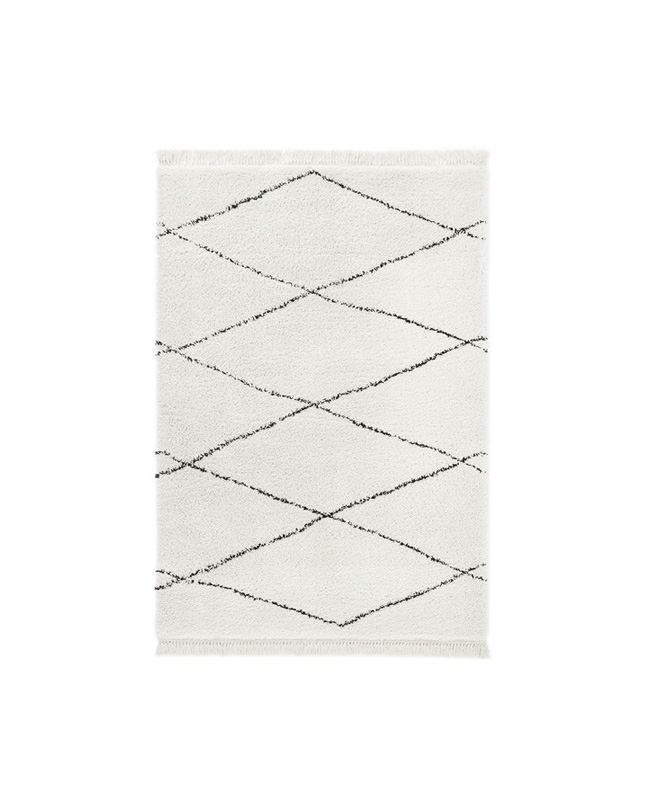 tapis berbère noir blanc boheme