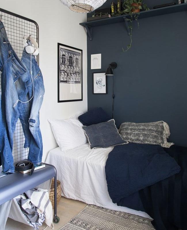 deco chambre ado bleu industriel