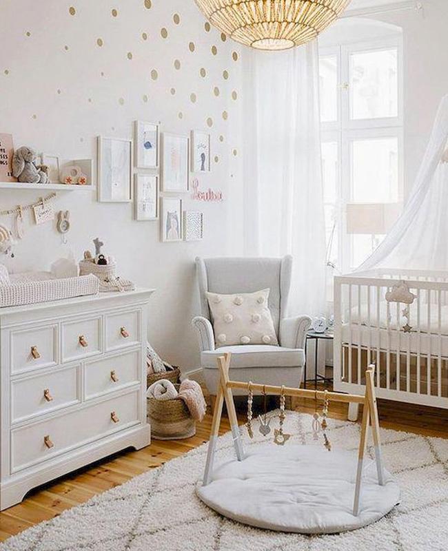 deco chambre bebe blanc bois