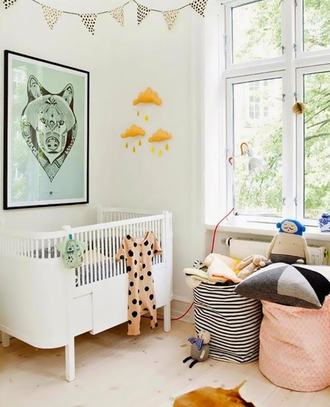 affiche vert pastel deco chambre bebe