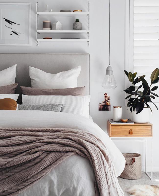 deco chambre moderne chic gris