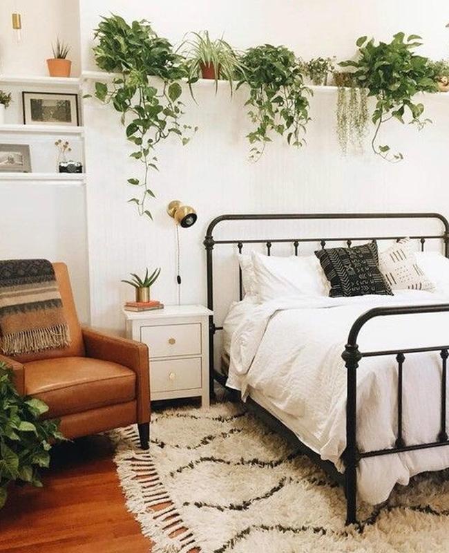 chambre blanche boheme vintage