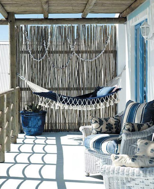 deco terrasse bord de mer bleu boheme