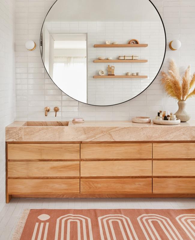 tapis terracotta deco salle de bain