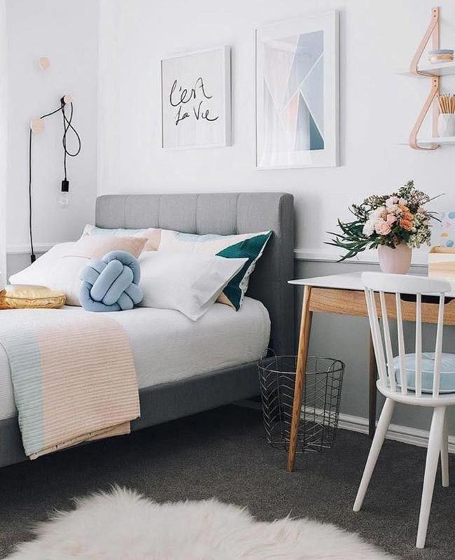 deco chambre ado bleu scandinave moderne