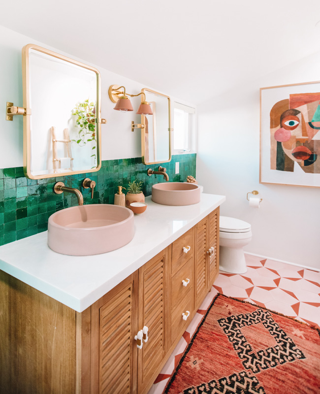 deco salle de bain applique terracotta