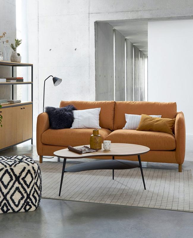 table basse moderne noir bois