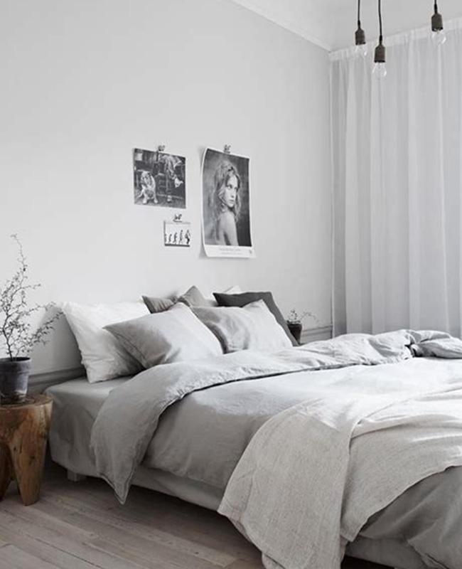 deco chambre moderne gris clair
