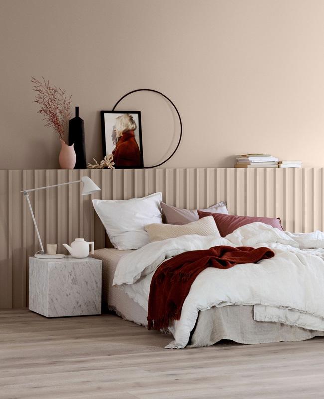 deco chambre moderne rose poudre