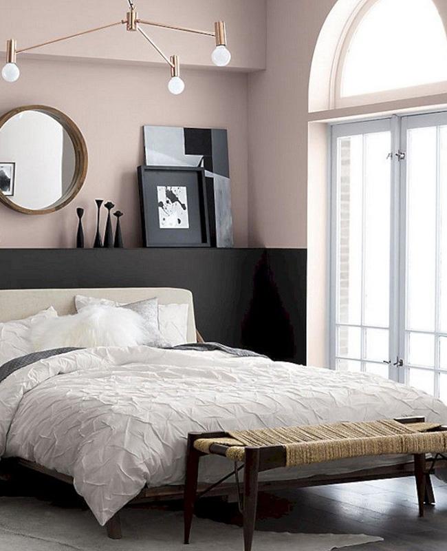 deco chambre moderne rose noir