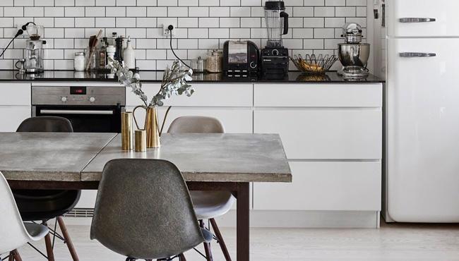 deco cuisine blanc industriel